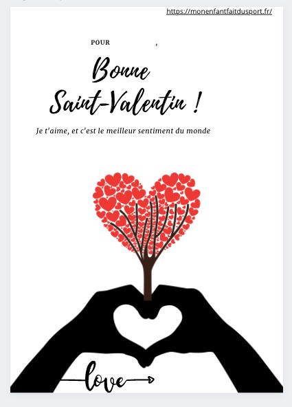 Coloriage saint Valentin coeur
