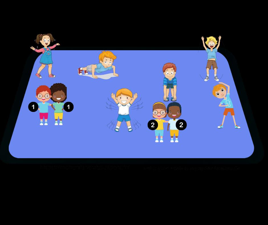 jeu d'échauffement sans matériel pour enfant version 2