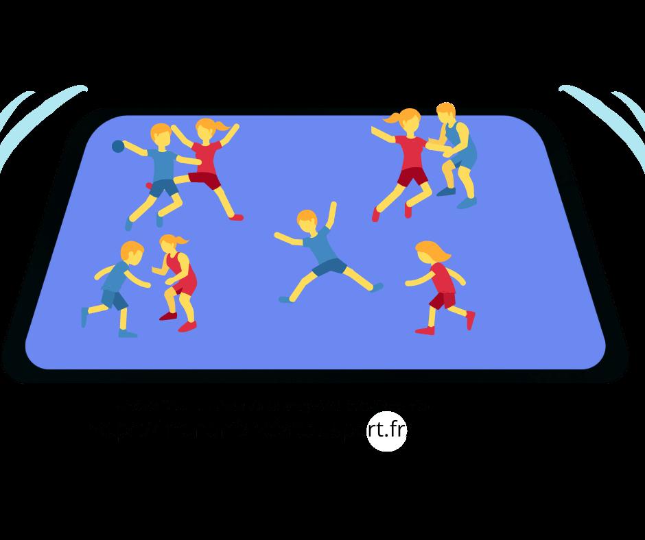 La passe à 10 - jeu de ballon sportif pour enfant